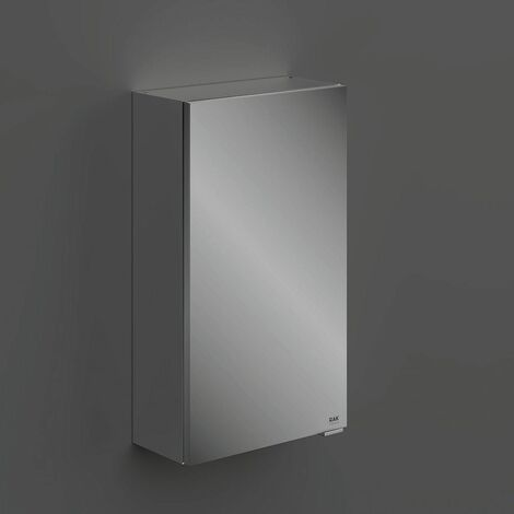 RAK Joy Unlit Rectangular Bathroom Wall Mirror Door Shelves Cabinet 682 x 400mm