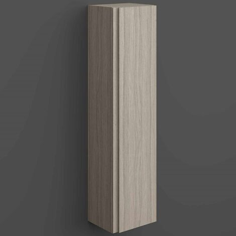 RAK Joy Wall Hung Tall Storage Unit 300mm Wide - Grey Elm