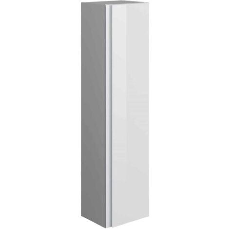 RAK Joy Wall Hung Tall Storage Unit 300mm Wide - Pure White