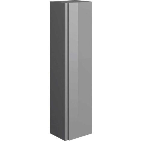 RAK Joy Wall Hung Tall Storage Unit 300mm Wide - Urban Grey