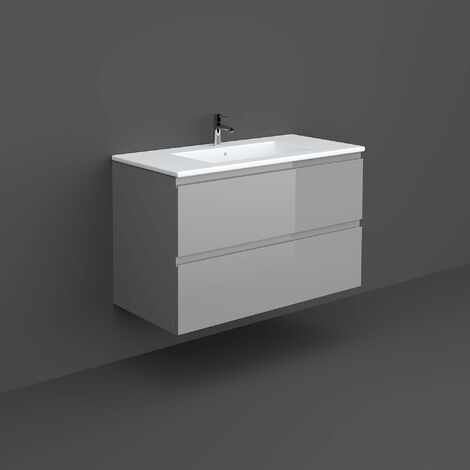 RAK Joy Wall Hung Vanity Unit with Basin 1000mm Wide - Urban Grey