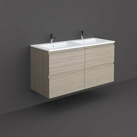 RAK Joy Wall Hung Vanity Unit with Basin 1200mm Wide - Grey Elm