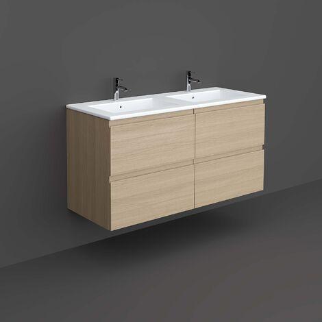 RAK Joy Wall Hung Vanity Unit with Basin 1200mm Wide - Scandinavian Oak