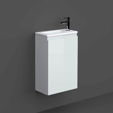 RAK Joy Wall Hung Vanity Unit with Basin 400mm Wide - Pure White