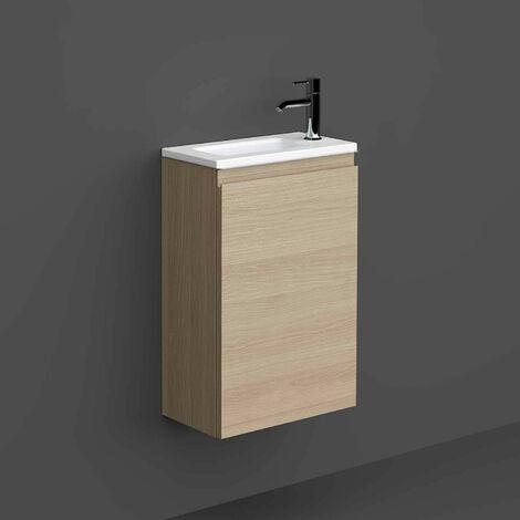 RAK Joy Wall Hung Vanity Unit with Basin 400mm Wide - Scandinavian Oak