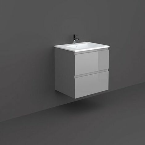 RAK Joy Wall Hung Vanity Unit with Basin 600mm Wide - Urban Grey