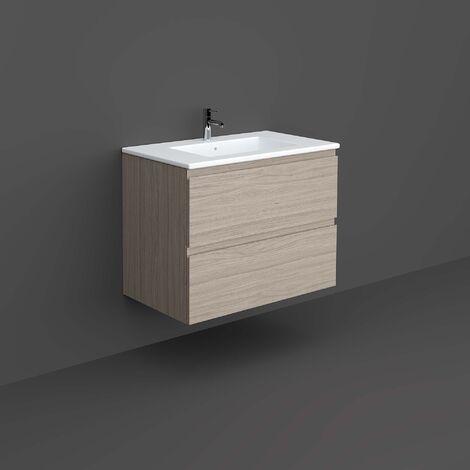 RAK Joy Wall Hung Vanity Unit with Basin 800mm Wide - Grey Elm