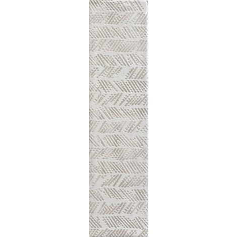 RAK Loft Brick White Decor Gloss 6.5cm x 26cm Ceramic Wall Tile - A56WLOBR-WH0.GDU
