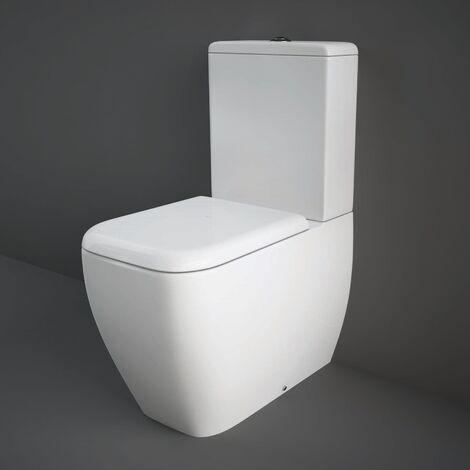"main image of ""RAK Metropolitan Back to Wall Close Coupled Toilet - Soft Close Seat"""