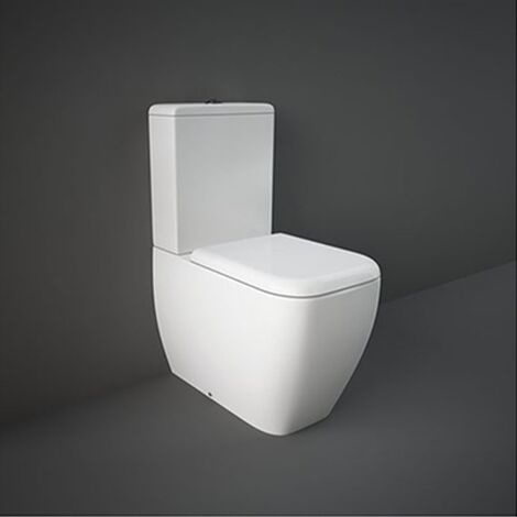RAK Metropolitan Rimless Close Coupled Toilet with Dual Flush Cistern - Urea Soft Close Seat