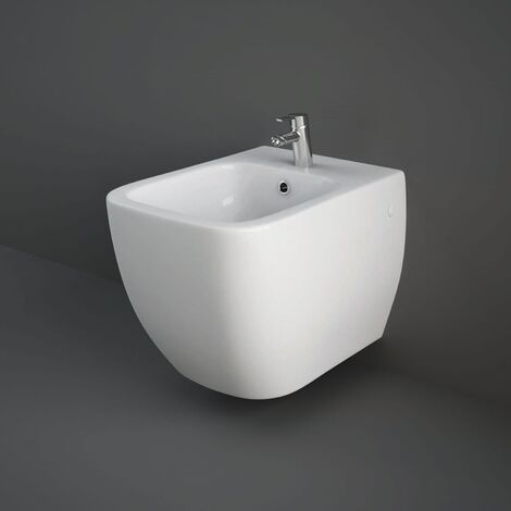 """main image of """"RAK Metropolitan Wall Hung Bidet 525mm Projection 1 Tap Hole (Tap Not Included)"""""""