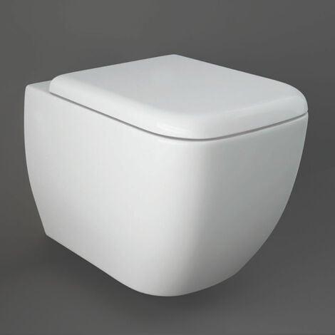 RAK Metropolitan Wall Hung Toilet Pan - Soft Close Seat
