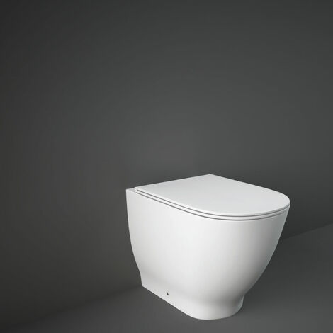 RAK Moon Back to Wall Toilet WC 560mm Projection - Soft Close Seat