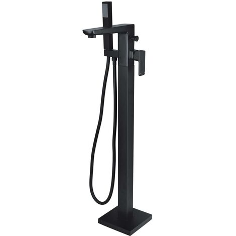 RAK Moon Freestanding Bath Shower Mixer Tap - Black