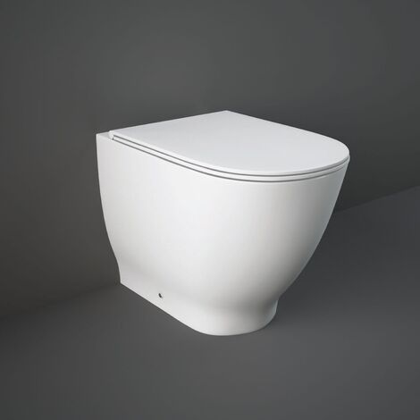RAK Moon Rimless Back to Wall Toilet 560mm Projection - Soft Close Seat