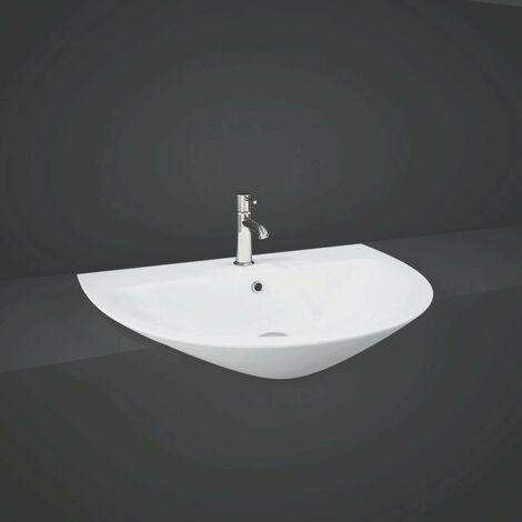 RAK Morning 550mm Semi Recessed Basin with 1 Tap Hole - MORSR5501AWHA