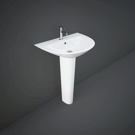 RAK Morning 600mm Basin with 1 Tap Hole and Full Pedestal