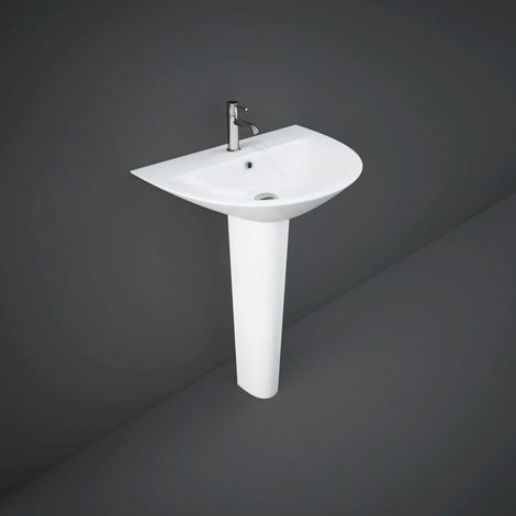 RAK Morning 650mm Basin with 1 Tap Hole and Full Pedestal
