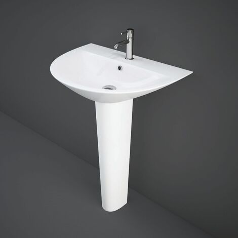 RAK Morning Basin with Full Pedestal 650mm W - 1 Tap Hole