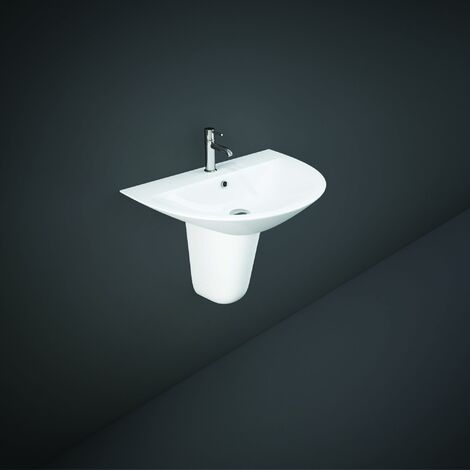 RAK Morning Basin with Semi Pedestal 550mm W - 1 Tap Hole