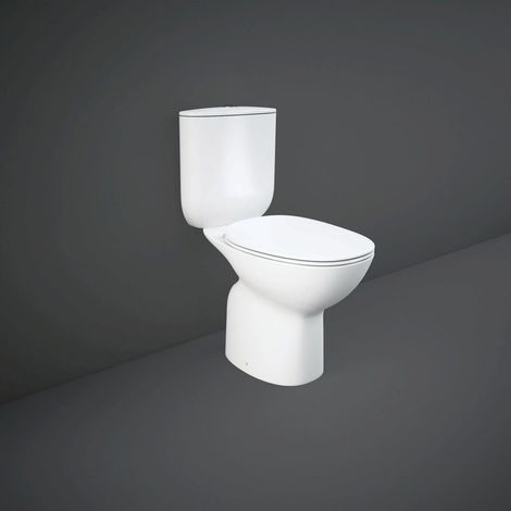 RAK Morning Rimless Close Coupled Toilet with Soft Close Seat - MORPACK018