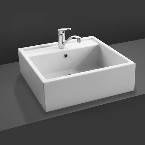 RAK Nova Sit-On Countertop Basin 460mm Wide - 1 Tap Hole