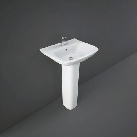 RAK Origin 520mm Basin with 1 Tap Hole and Full Pedestal