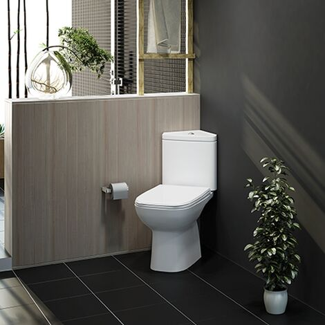 RAK Origin 62 Corner Full Access Close Coupled Toilet - Urea Soft Close Seat