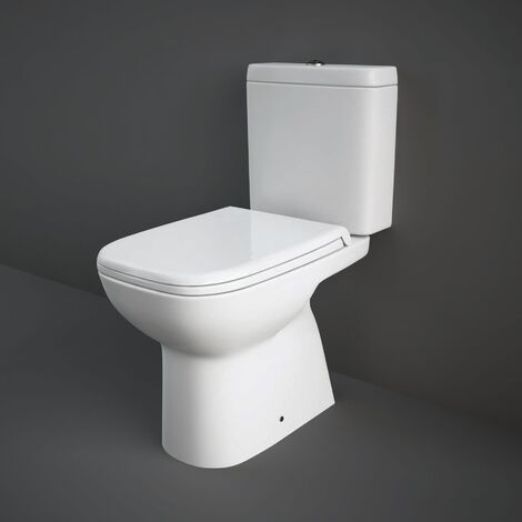 RAK Origin 62 Full Access Close Coupled Toilet with Push Button Cistern - Soft Close Seat