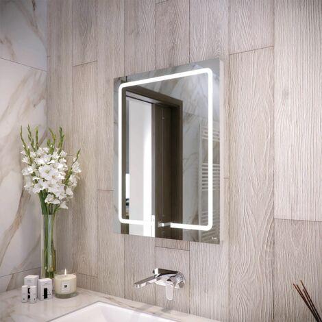 RAK Pegasus LED Bathroom Mirror Demister Touch Switch Shaver Socket 800 x 600mm