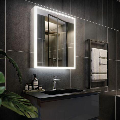RAK Pisces 2-Door Mirrored Bathroom Cabinet 700mm H x 600mm W