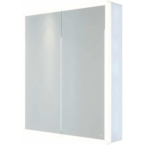 RAK Pisces 2-Door Mirrored Bathroom Cabinet 700mm H x 600mm W