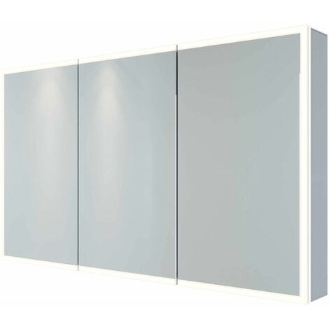 RAK Pisces 3-Door Mirrored Bathroom Cabinet 700mm H x 1200mm W