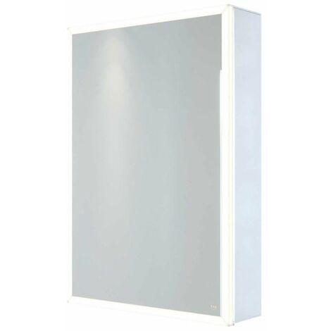 RAK Pisces Bathroom Mirror Cabinet Cupboard Single Door Aluminium 700 x 500mm