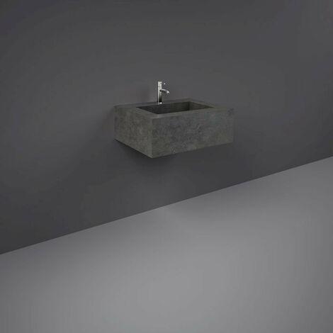 RAK Precious Behind Grey 600mm Wall Mounted Basin with 1 Tap Hole - PRECT06347104A
