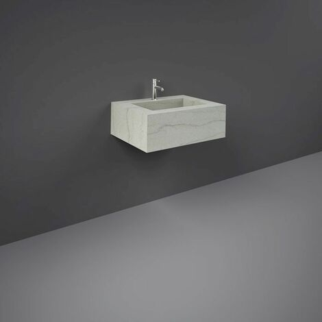 RAK Precious Macaubus 600mm Wall Mounted Basin with 1 Tap Hole - PRECT06347101A