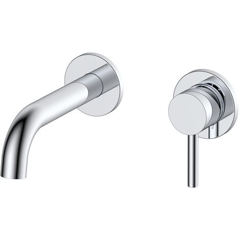 RAK Prima Tech Basin Mixer Tap Wall Mounted - Chrome
