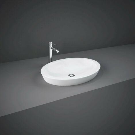 RAK Resort 580mm x 365mm x 75mm Oval Counter Top Basin - RST58CTBAS
