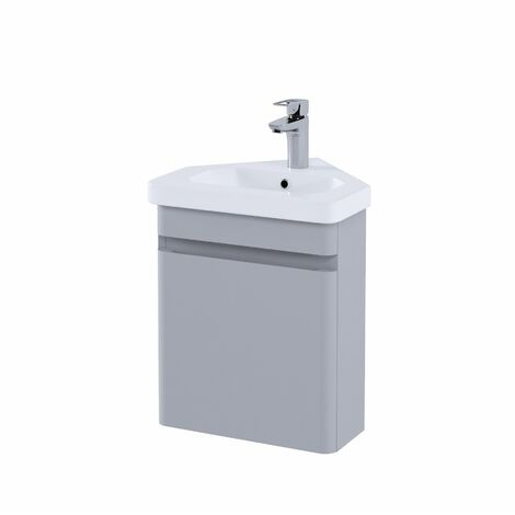 RAK Resort Bathroom Cloakroom Vanity Unit 450mm Basin Cupboard Storage Stone