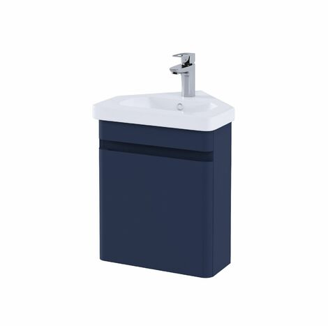 RAK Resort Bathroom Cloakroom Vanity Unit 450mm Basin Sink Cupboard Storage Blue