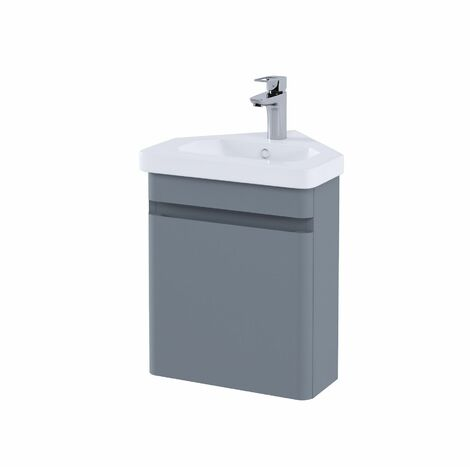 RAK Resort Bathroom Cloakroom Vanity Unit 450mm Basin Sink Cupboard Storage Grey