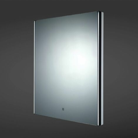 RAK Resort LED Illuminated Demister Lighted Bathroom Wall Mount Mirror 600x450mm