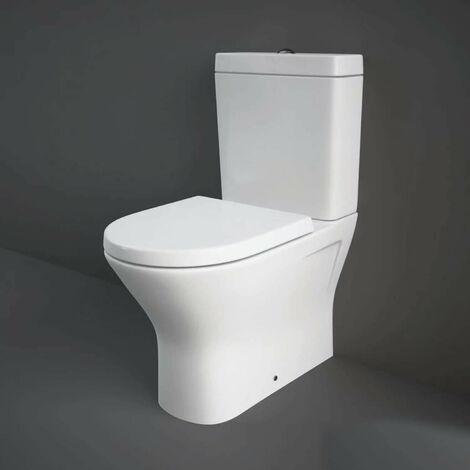 RAK Resort Mini Close Coupled Back to Wall Rimless Toilet WC Soft Close Seat