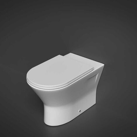 RAK Resort Rimless Back to Wall Pan 450mm Extended Height - Slim Sandwich Soft Close Seat
