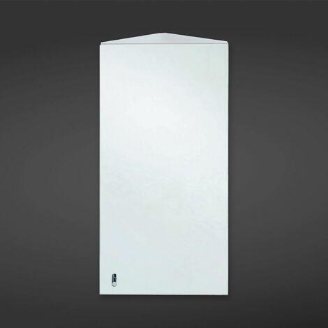RAK Riva Corner Rectangular Bathroom Mirror Stainless Steel Cabinet 600 x 340mm