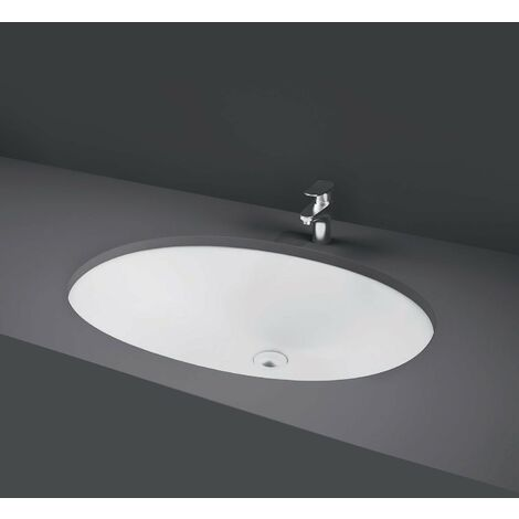 RAK Rosa Undermount Countertop Basin 500mm Wide - 0 Tap Hole