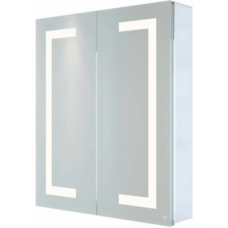 RAK Sagittarius 2-Door Mirrored Bathroom Cabinet 700mm H x 600mm W