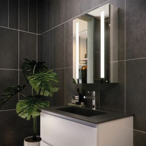 RAK Sagittarius LED Bathroom Mirror Cabinet Demister Shaver Bluetooth 700 x 500
