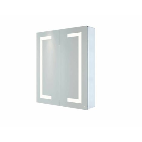 RAK Sagittarius LED Bathroom Mirror Cabinet Demister Shaver Bluetooth 700 x 600