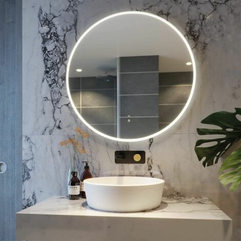 RAK Scorpio LED Bathroom Mirror Demister Pad Round Illuminated IP44 800 x 800mm